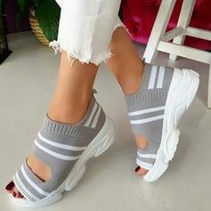 Dla kobiet Material Tkanina mesh Obcas Koturnowy Sandały Plaskie Koturny Otwarty Nosek Buta Obcasy Z Pozostałe obuwie