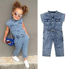 Baby Girl Denim Cotton Jumpsuit