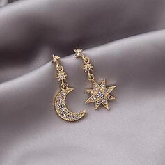 Stars Alloy Rhinestones With Star Women's Earrings 2 PCS