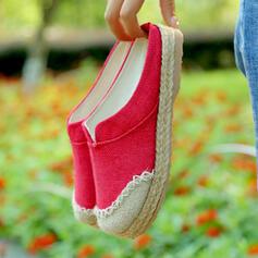 Dla kobiet Tkanina Nylon Płaski Obcas Plaskie Slajd i muły Z Kolor splotu obuwie