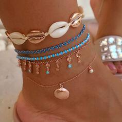 Uroczy Najgorętsze Powłoka Stop Z Powłoka Biżuteria plażowa Obrączki (Zestaw 5 par)