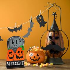 Kolorowe gotyk Przerażające Naścienny Dynia Drewniany Rekwizyty na Halloween Dekoracje na Halloween (Sprzedawane w jednym kawałku)