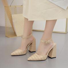 Dla kobiet PU Obcas Slupek Spiczasty palec u nogi Z Klamra obuwie