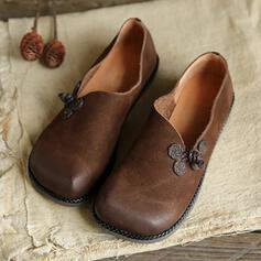 Dla kobiet PU Płaski Obcas Plaskie Niskie góry Niesznurowane mokasyny Z Jednolity kolor obuwie