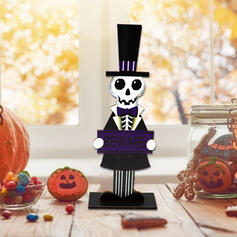 Kolorowe gotyk Przerażające Naścienny Duch Drewniany Rekwizyty na Halloween Dekoracje na Halloween (Sprzedawane w jednym kawałku)
