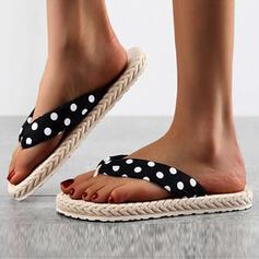 Women's EVA Flat Heel Sandals Flats Peep Toe Flip-Flops Slippers With Hollow-out Dot shoes