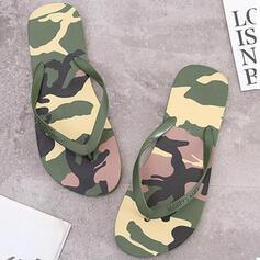 Dla kobiet PVC Płaski Obcas Sandały Japonki Kapcie Z Colorblock obuwie