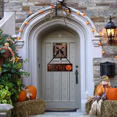 Kolorowe gotyk Przerażające Naścienny Halloween Dynia Drewniany Rekwizyty na Halloween Dekoracje na Halloween (Sprzedawane w jednym kawałku)