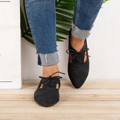 Dla kobiet PU Płaski Obcas Plaskie Niskie góry Z Sznurowanie obuwie