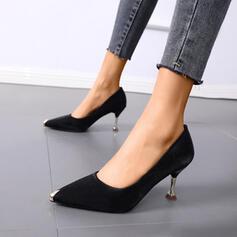 Dla kobiet PU Obcas Stiletto Spiczasty palec u nogi Z Nit obuwie