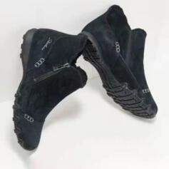 Dla kobiet Zamsz Płaski Obcas Plaskie Z Zamek błyskawiczny obuwie