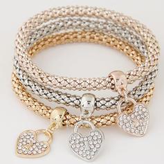 Lovely Alloy Rhinestones With Rhinestone Ladies' Fashion Bracelets (Set of 3)