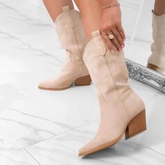 Dla kobiet Zamsz Obcas Slupek Z Jednolity kolor obuwie