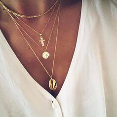 Krzyż Najgorętsze Stop Z Powłoka Moneta Naszyjniki Biżuteria plażowa Komplet 2