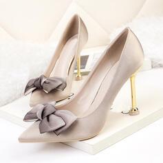 Dla kobiet PU Szpilki Czólenka Obcasy Z Kokarda Jednolity kolor obuwie