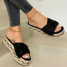 Dla kobiet PU Płaski Obcas Sandały Kapcie Z Jednolity kolor obuwie
