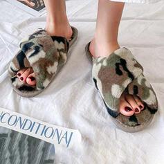 Dla kobiet Sztuczne futro Płaski Obcas Z Futro obuwie
