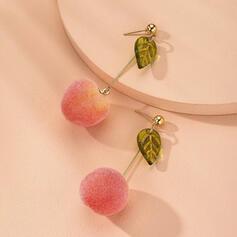 Lovely Cloth Alloy With Fruit Women's Earrings 2 PCS