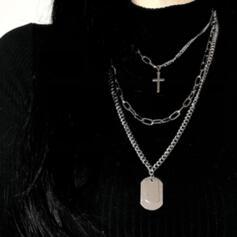 Uroczy Delikatny Stop Z Metalowe zdobienie łańcuszka Dla kobiet Ladies ' Dziewczyny Naszyjniki