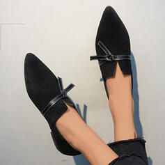 Dla kobiet Zamsz Płaski Obcas Poślizgnąć się na Z Sznurowanie Jednolity kolor obuwie