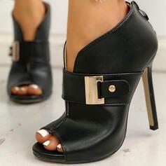 Dla kobiet PU Obcas Stiletto Czólenka Z Klamra obuwie