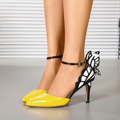 Dla kobiet PU Obcas Stiletto Spiczasty palec u nogi Z Klamra Nadruk Zwierzęcy obuwie