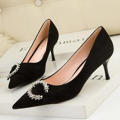 Dla kobiet PU Obcas Stiletto Czólenka Obcasy Z Stras/ Krysztal Górski Jednolity kolor obuwie