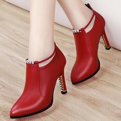 Dla kobiet PU Obcas Stiletto Czólenka Obcasy Z Klamra obuwie