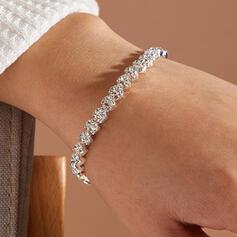 Shining Alloy Rhinestones With Rhinestones Women's Ladies' Bracelets