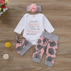 4-pieces Baby Floral Cotton Set