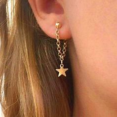Simple Star Alloy Women's Ladies' Earrings 2 PCS