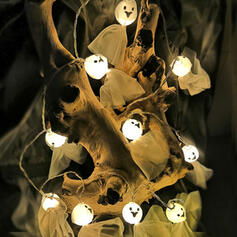 Przerażające Halloween Duch Plastikowy Dekoracje na Halloween Światła łańcuchowe Komplet 10