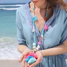 Najgorętsze Fantazyjny Stop Sieczka Z Frędzle Naszyjniki Biżuteria plażowa