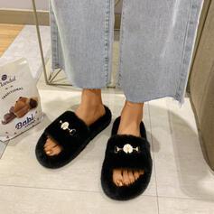 Dla kobiet Nylon Płaski Obcas Kapcie Z Plastikowe koraliki obuwie