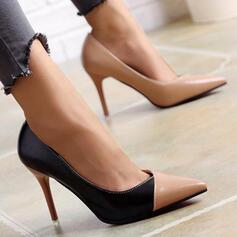 Dla kobiet PU Obcas Stiletto Czólenka Z Kolor splotu Colorblock obuwie