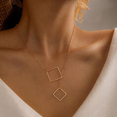 Simple Alloy Women's Necklaces