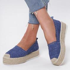 Dla kobiet Material Płaski Obcas Plaskie Z Tkanina Wypalana obuwie
