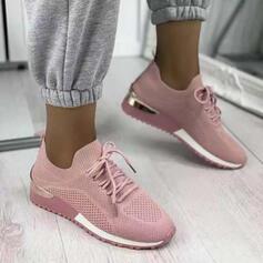 Dla kobiet Material Tkanina mesh Płaski Obcas Plaskie Tenisówki Z Sznurowanie Kolor splotu obuwie