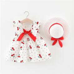 2-pieces Baby Girl Bowknot Print Cotton Set