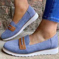 Dla kobiet Zamsz Płaski Obcas Plaskie Z Elastyczna taśma obuwie