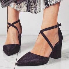 Dla kobiet Skóra ekologiczna Obcas Slupek Spiczasty palec u nogi Z Klamra obuwie