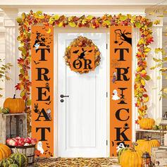 Klasyczny Halloween Cukierek albo psikus Oxfordská tkanina Dekoracje na Halloween Znak werandy
