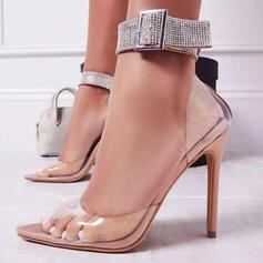 Dla kobiet PU Obcas Stiletto Zakryte Palce Z Klamra obuwie