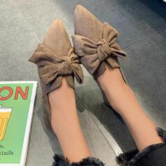 Dla kobiet Material Płaski Obcas Plaskie Poślizgnąć się na Z Jednolity kolor obuwie