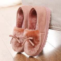 Dla kobiet Skóra ekologiczna Płaski Obcas Plaskie Z Kokarda Sztuczne Futro obuwie