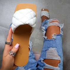 Dla kobiet EVA Płaski Obcas Sandały Kapcie Z Jednolity kolor obuwie