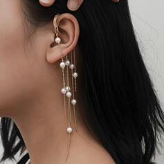Fashionable Sexy Vintage Classic Alloy Imitation Pearls With Imitation Pearl Women's Ladies' Earrings 2 PCS