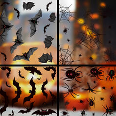 Przerażające Nietoperz Halloween Spider Net Pająk PVC Naklejka Dekoracje na Halloween (Zestaw 2)