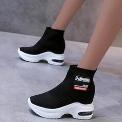 Dla kobiet Material Płaski Obcas Kozaki Botki Z Kolor splotu obuwie
