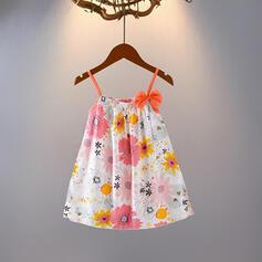 Dziewczynki 2-5lat Kwiatowy Nadruk Suknia